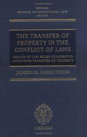 9780199271474 - The Transfer Of Property In The Conflict Of Laws ...