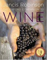 The Oxford Companion to Wine, ed. by Jancis Robinson